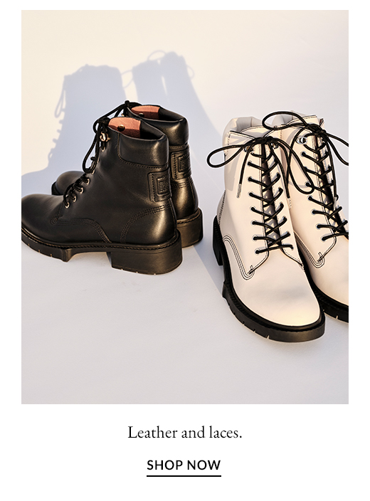Leather and laces. SHOP NOW